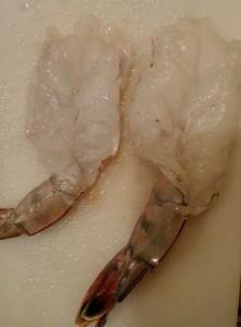 Butterflied shrimp
