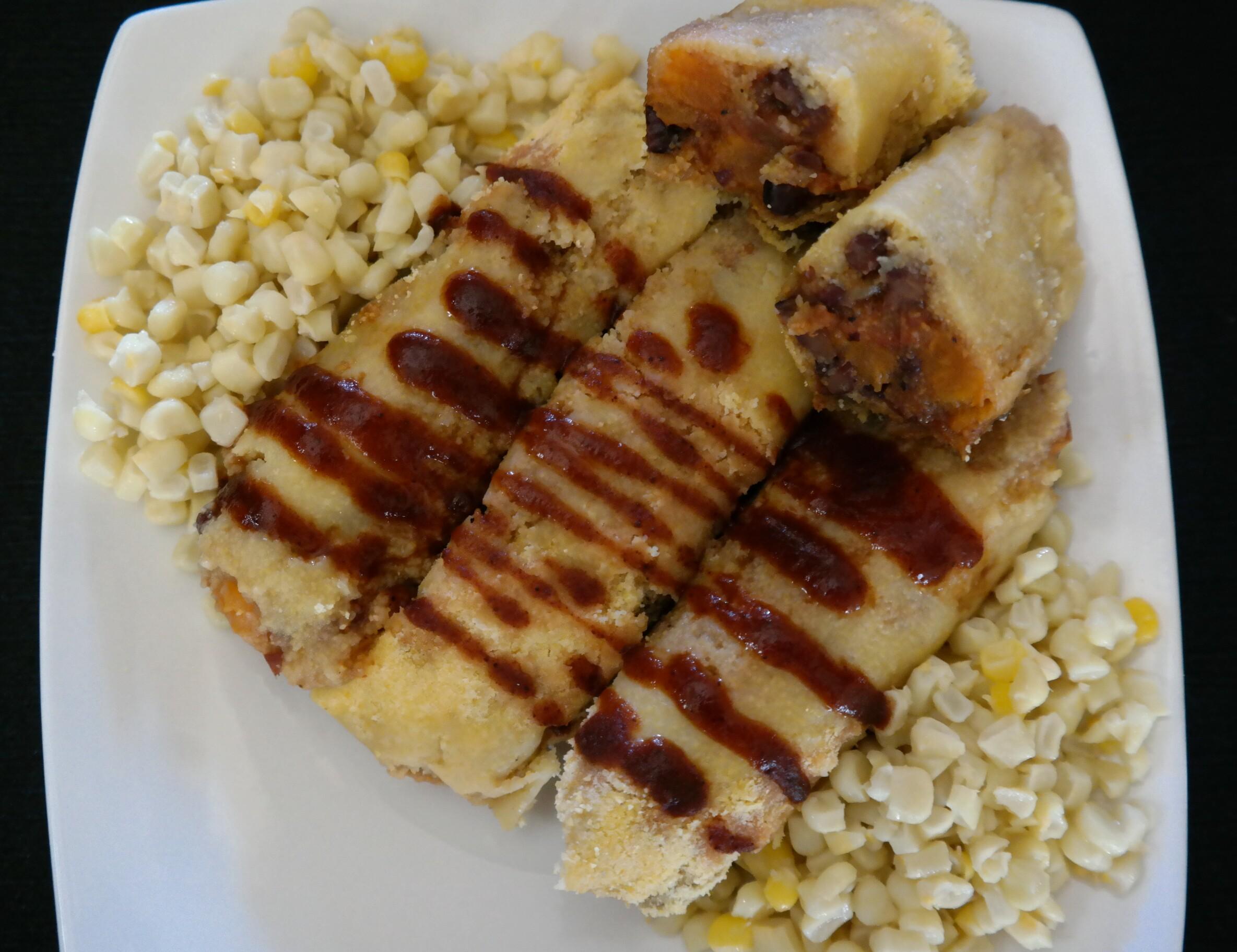 BBQ Pork Cornmeal Tamales