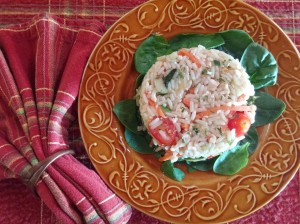 Grilled Vegetable Rice Salad