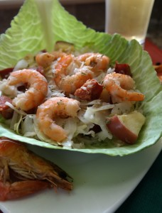 Sweet & Sour Spicy Shrimp Slaw