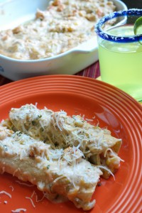 Crawfish Etouffee Enchiladas