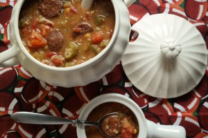 Leftover Jambalaya Soup