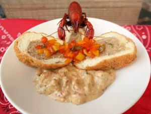 Stuffed Bread with Crawfish Buttercream Sauce