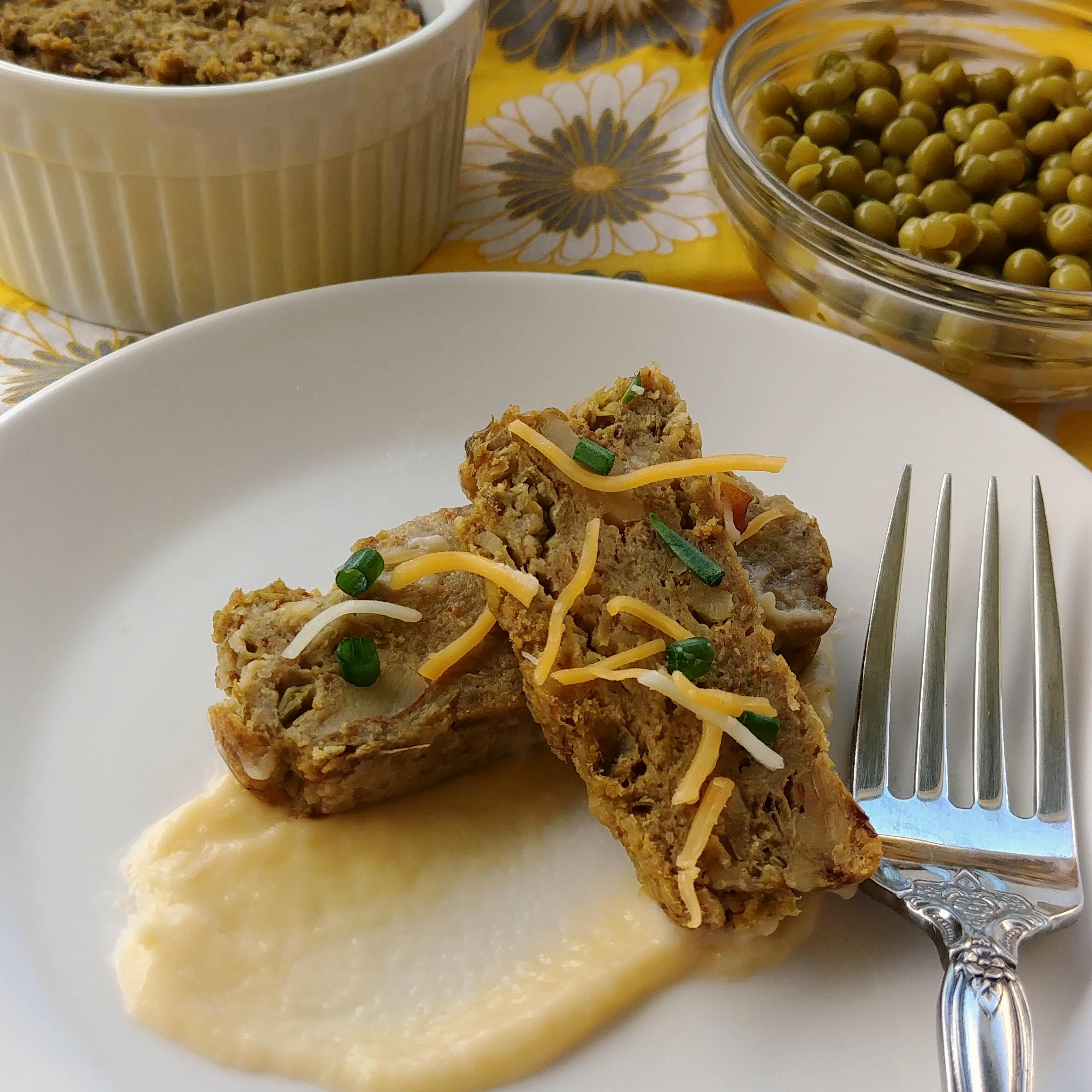 "Leftover Peas Please: Pea & Walnut ""Meat"" Loaf"