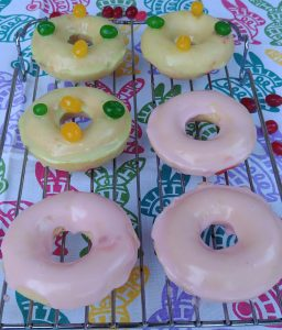 Jelly Bean Doughnuts with Jelly Bean Glaze