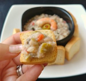 Zesty Lemon Olive Shrimp Dip