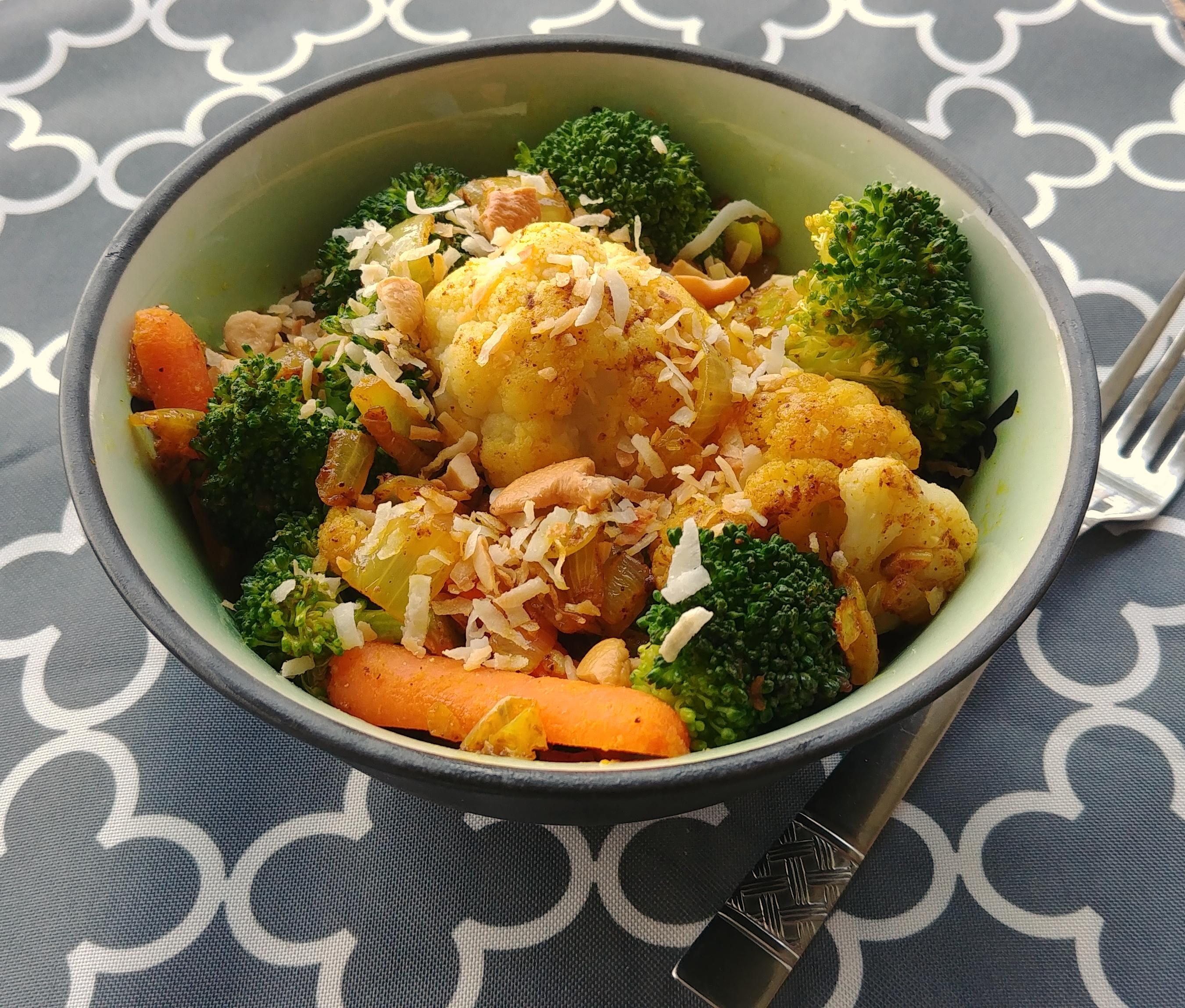 Curried Leftover Vegetables