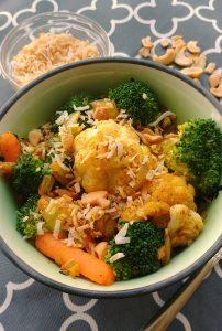 Coconut Curried Leftover Vegetables
